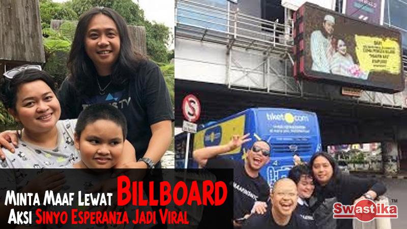 Minta Maaf Lewat Billboard, Aksi Sinyo Esperanza Jadi Viral