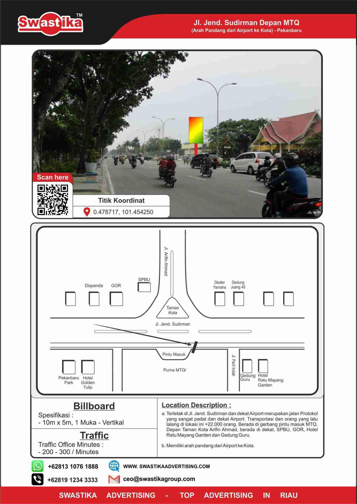 Jl Jend Sudirman dpn MTQ