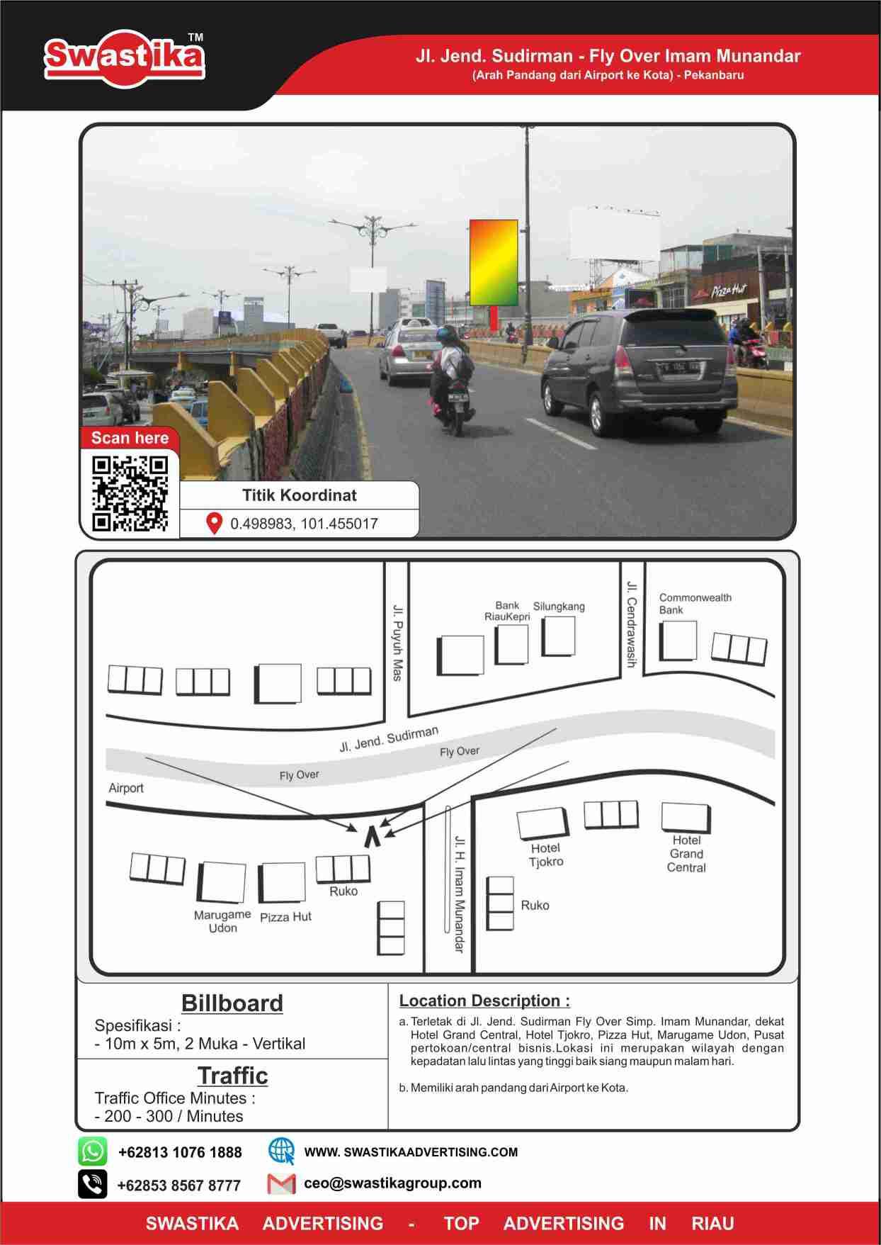 Jl Jend Sudirman Fly Over Imam Munandar (Arah dari Airport ke Kota)