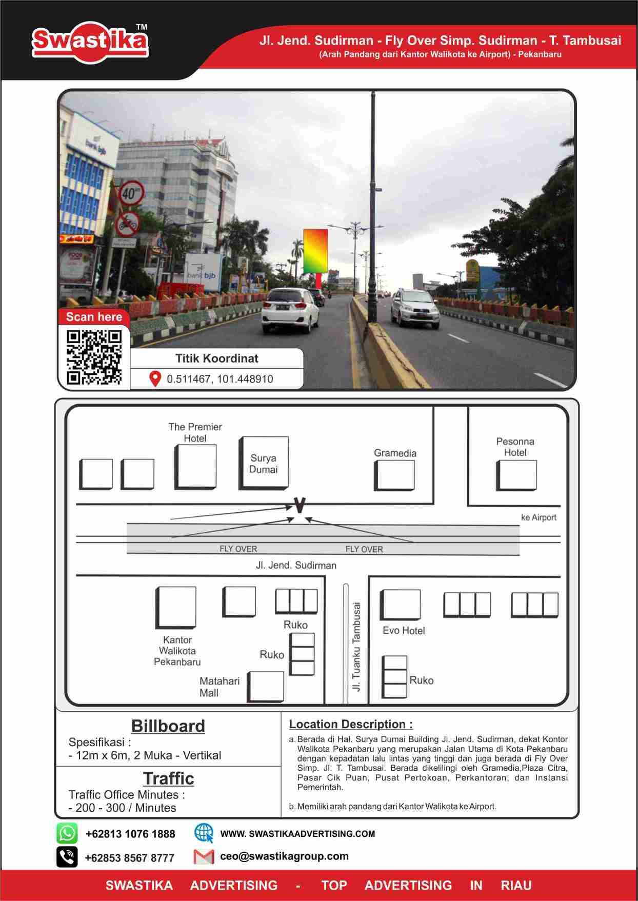 Jl Jend Sudirman Surya Dumai Building (Arah dari Kantor Walikota ke Airport)