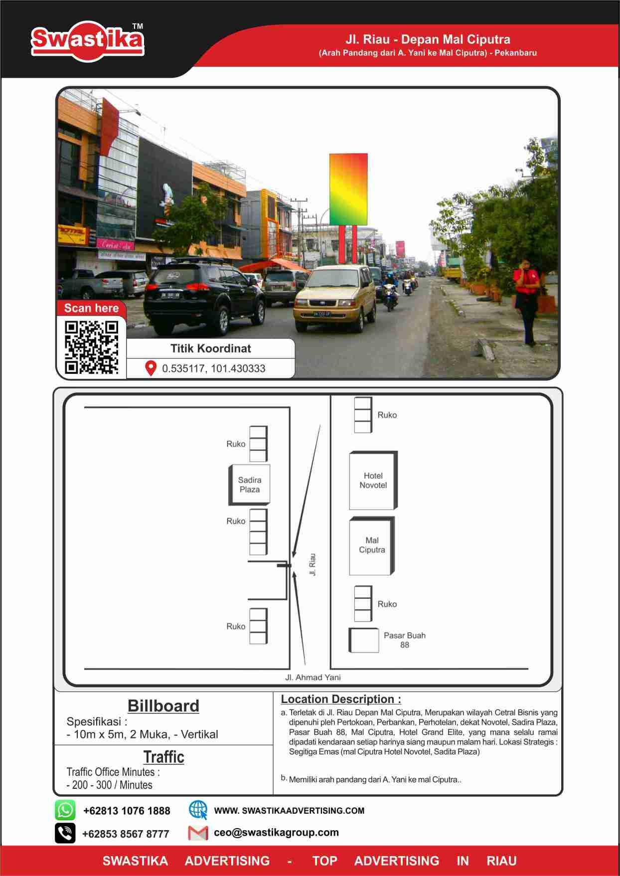 Jl Riau dpn Pintu Keluar Ciputra (Arah dari A Yani ke Ciputra)