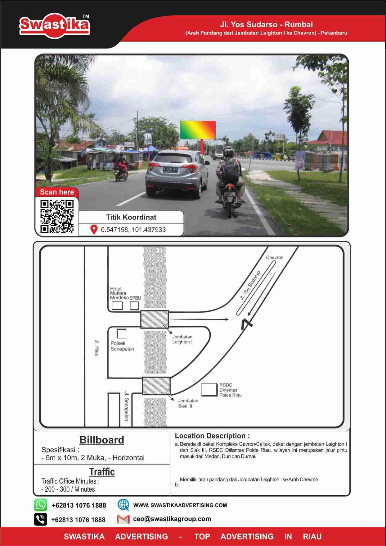 Jl Yos Sudarso - Rumbai (Arah dari Leighton 1 ke Chevron)