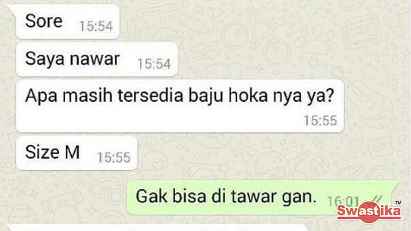 Obrolan WhatsApp yang salah kaprah