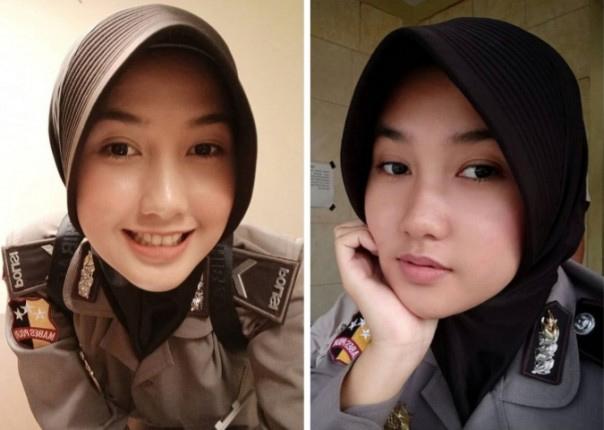 Cantik dan Imutnya Bripda Enji, Netizen: Berbukalah Dengan yang Manis