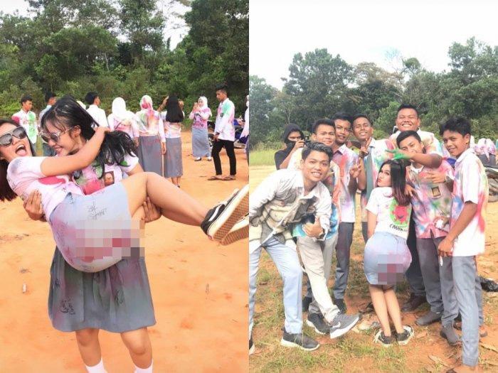 DPRD Riau Minta Siswi SMA yang Coret-coret Mesum Dievaluasi Kelulusannya